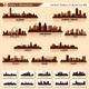Skyline City Set. 10 Cities of USA #6 - GraphicRiver Item for Sale