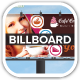 Cafe Creme Billboard Banner - GraphicRiver Item for Sale