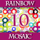 Set of 10 Rainbow Geometric Mosaic Backgrounds - GraphicRiver Item for Sale