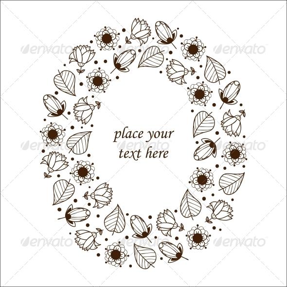 GraphicRiver Floral Frame 6767183