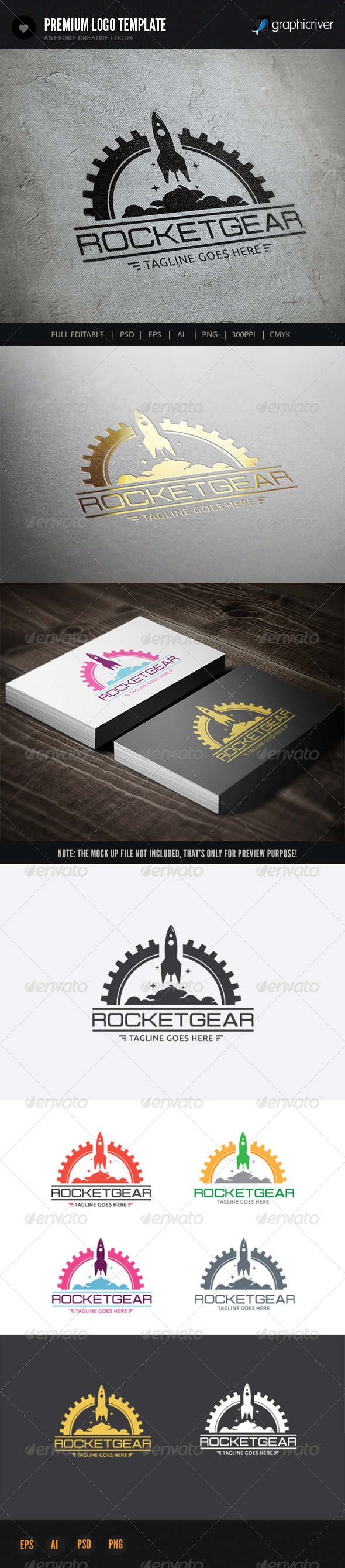 GraphicRiver Rocket Gear 6767729