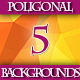 Set of Colorful Bright Triangular Backgrounds. - GraphicRiver Item for Sale
