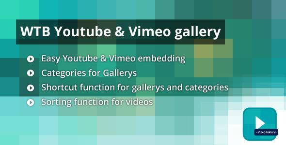 CodeCanyon WTB Youtube & Vimeo Gallery 6767827