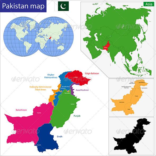 GraphicRiver Pakistan Map 6767934