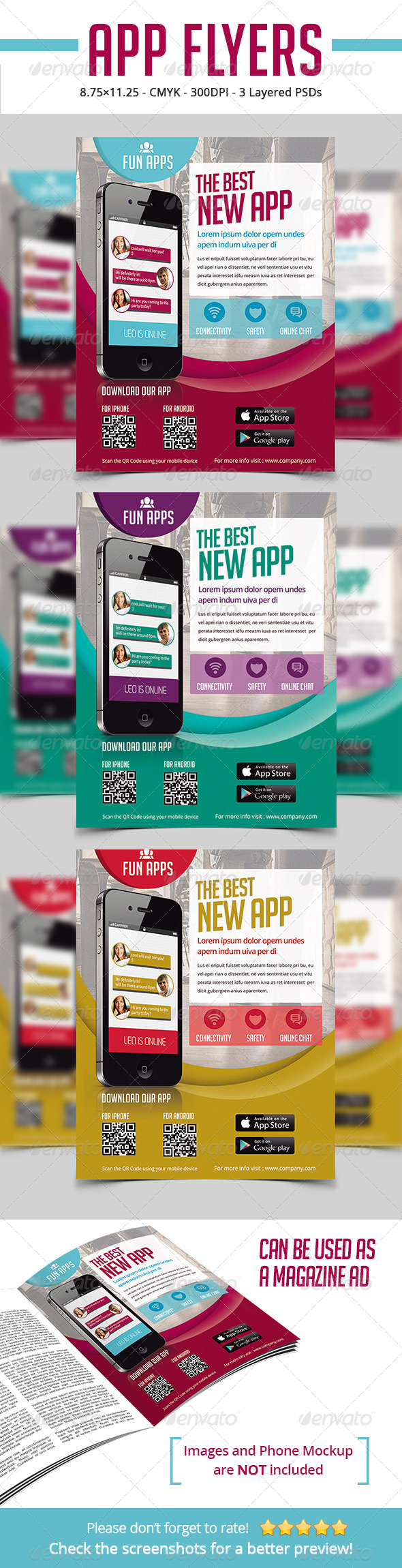 GraphicRiver App Flyers Magazine Ads 6720436