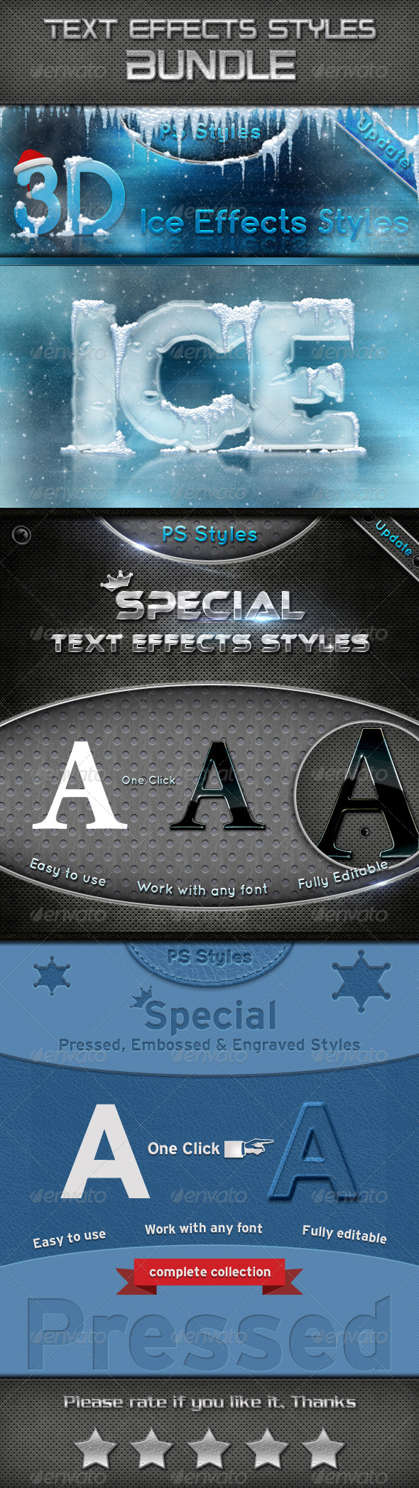 GraphicRiver Text Effects Styles Bundle 6762146