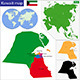Kuwait Map - GraphicRiver Item for Sale