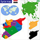 Syria Map - GraphicRiver Item for Sale