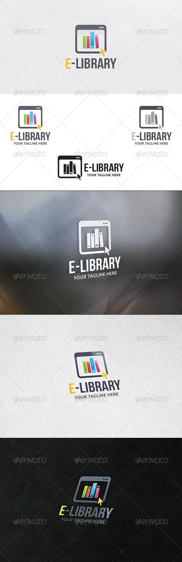 GraphicRiver E-Library Logo Template 6769025