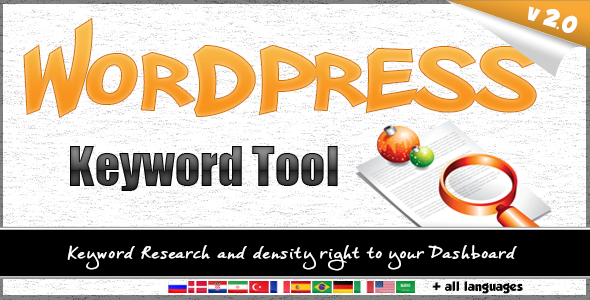 Wordpress Keyword Tool Plugin - CodeCanyon Item for Sale
