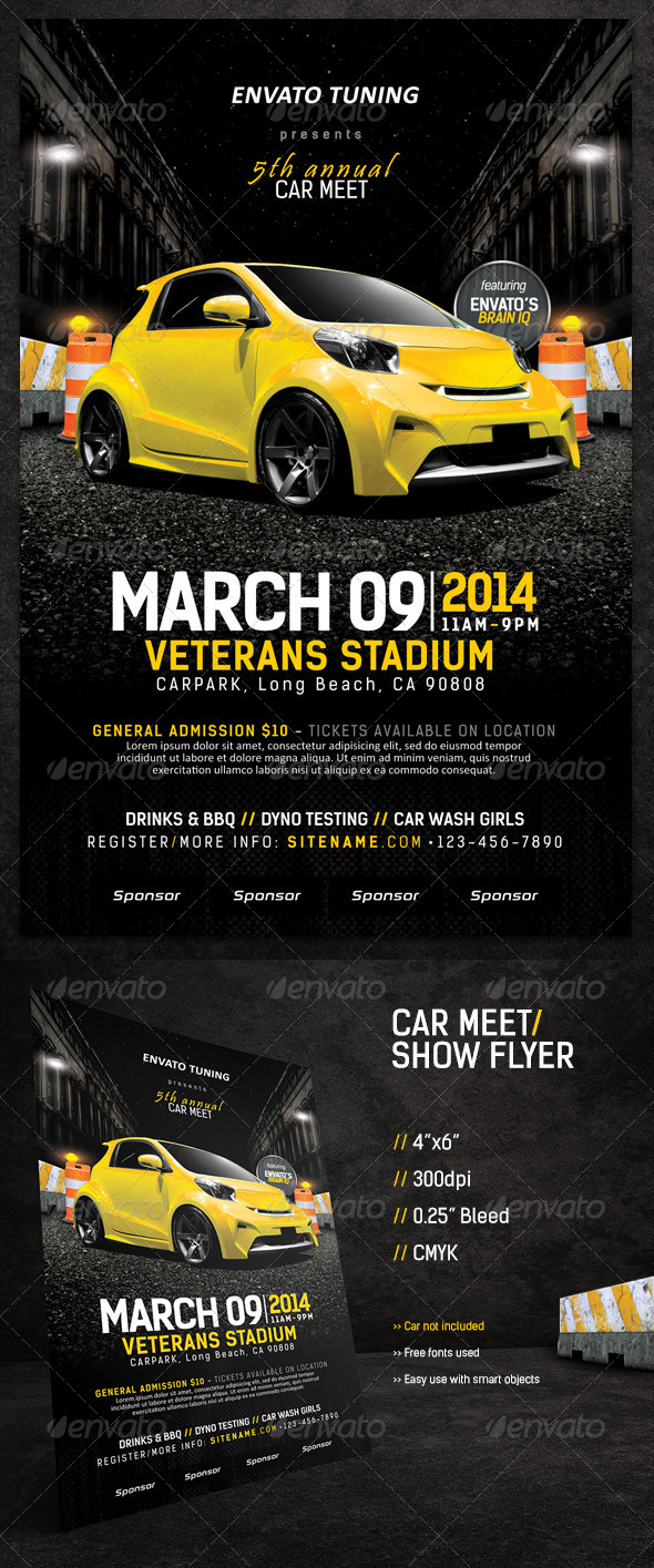 GraphicRiver Car Meet & Show Flyer 6768252