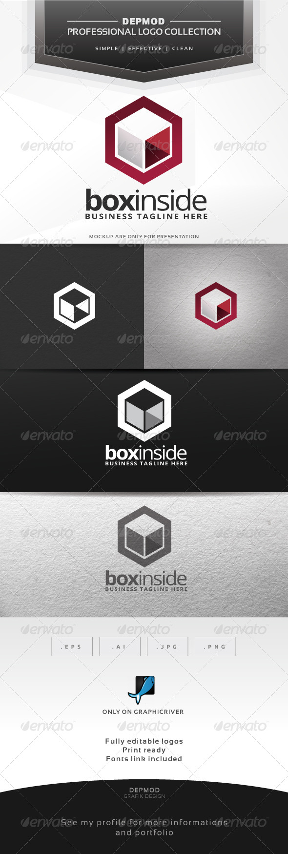 GraphicRiver Box Inside Logo 6769677