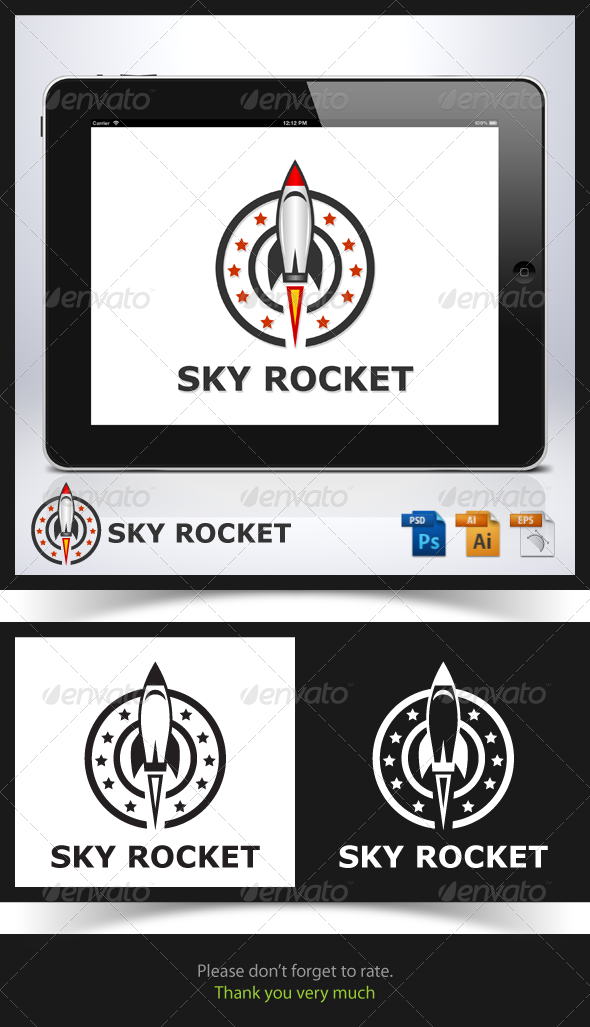 GraphicRiver Sky Rocket Logo 6770370