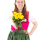 Happy woman in dirndl giving you roses as present - PhotoDune Item for Sale