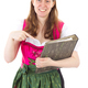 Beautiful woman in dirndl happy about her success - PhotoDune Item for Sale