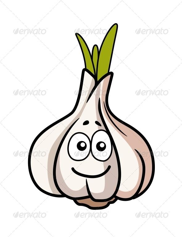 GraphicRiver Garlic Bulb Smiling 6770636