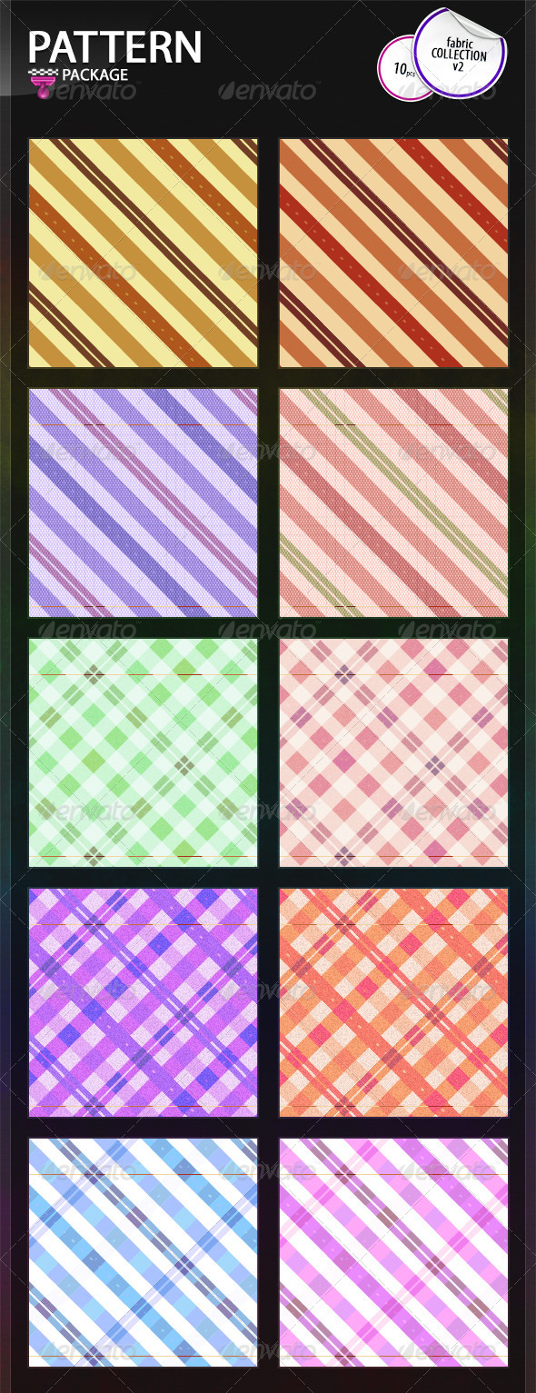 GraphicRiver Fabric Patterns Collection v2 6770686