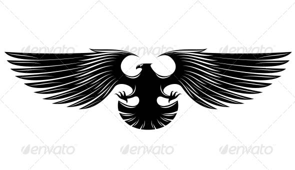 GraphicRiver Black Heraldic Eagle 6770728
