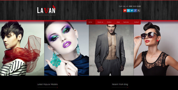 Lavan - Fashion Model Agency WordPress CMS Theme - Fashion Retail