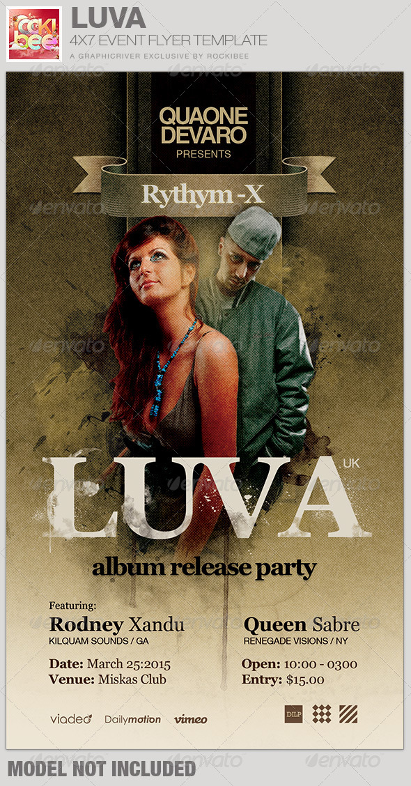 Luva Album Release Flyer Template - Events Flyers