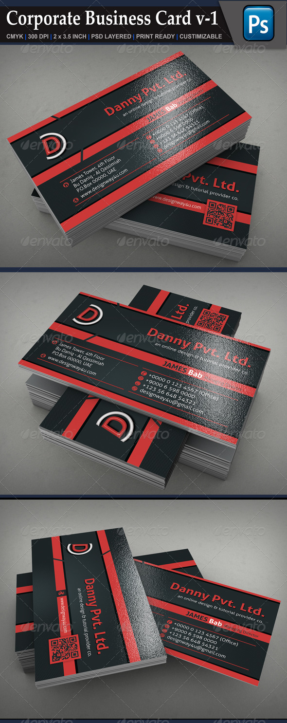 GraphicRiver Corporate Business Card v-1 6763546