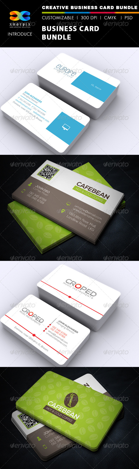 GraphicRiver Business Card Bundle 3 in 1-Vol 34 6772816