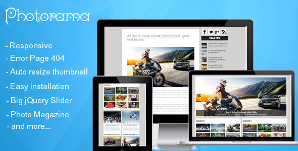 Photorama - Responsive Photo Magazine - Blogger Blogging