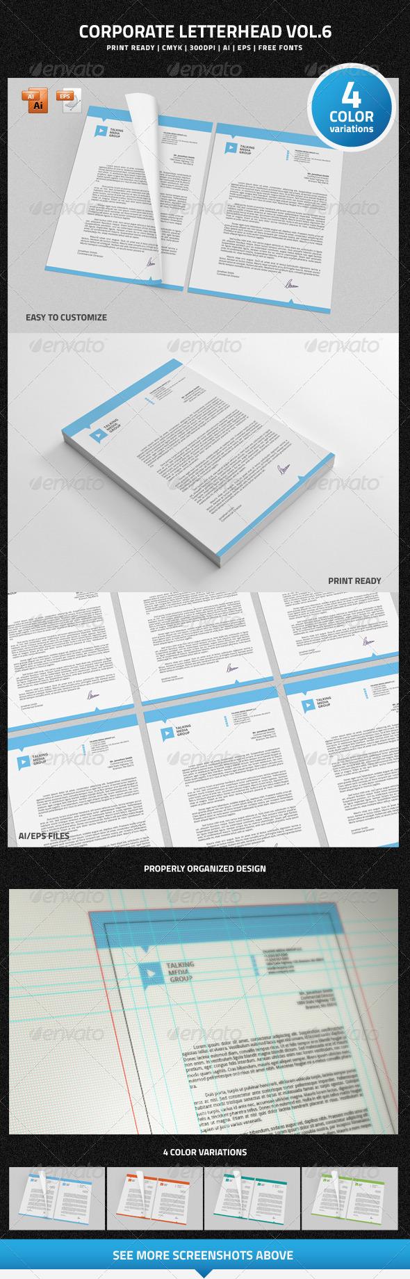 GraphicRiver Corporate Letterhead vol.6 6774254