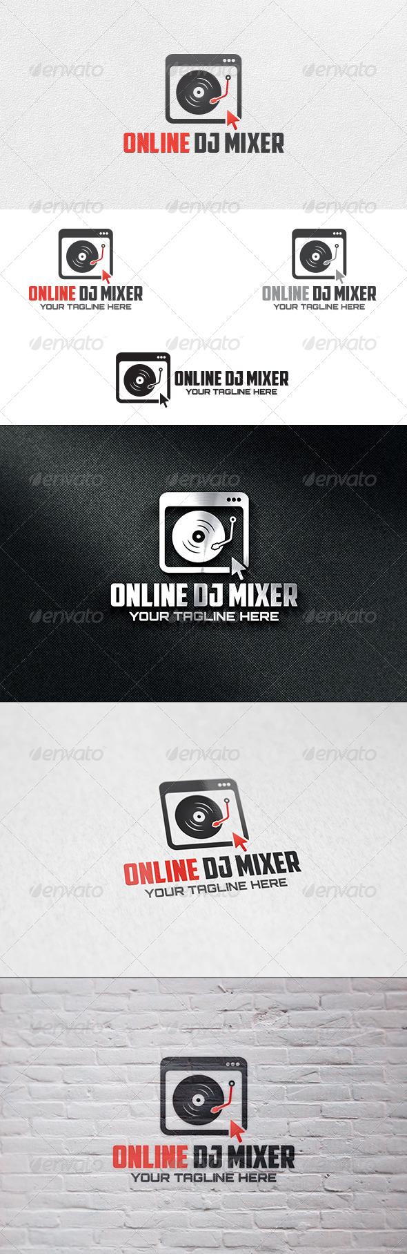 GraphicRiver Online DJ Mixer Logo Template 6776360