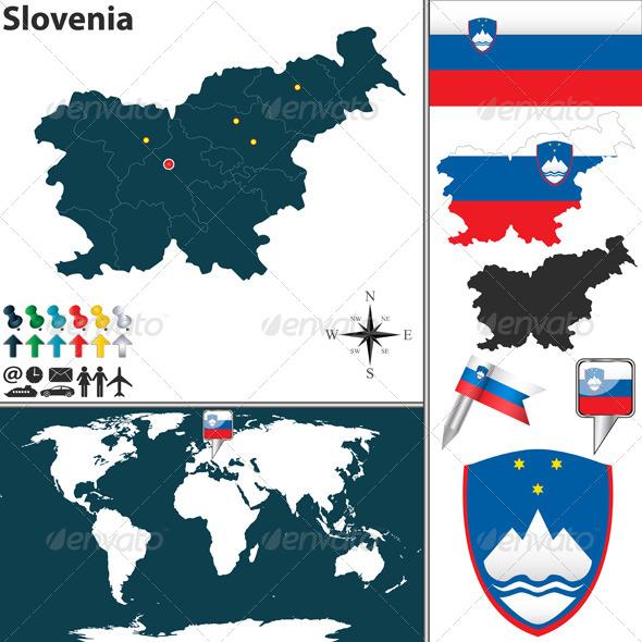 GraphicRiver Map of Slovenia 6777156