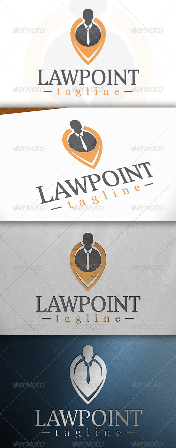 GraphicRiver Law Locator Logo 6777213