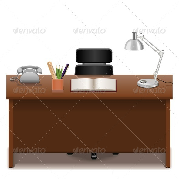 GraphicRiver Office Table 6777372