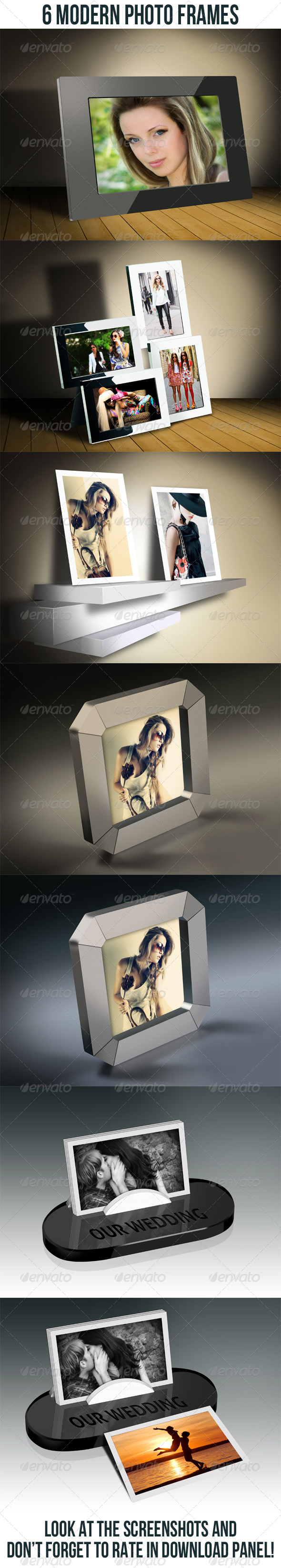 GraphicRiver 6 Modern Photo Frame Bundle 6777457