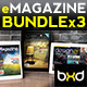 iPad/Tablet eMagazine InDesign Bundle V1 - GraphicRiver Item for Sale
