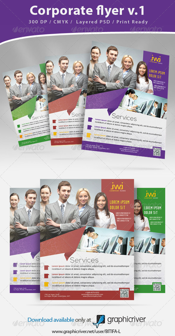 GraphicRiver Corporate flyer 6757747