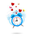 Alarm clock ringing with hearts and butterflies all around - PhotoDune Item for Sale