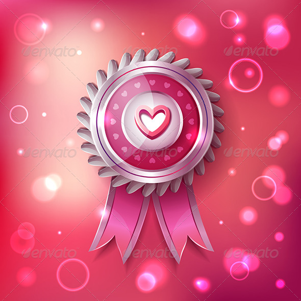 GraphicRiver Valentine Day Pink Label with Ribbons 6779299