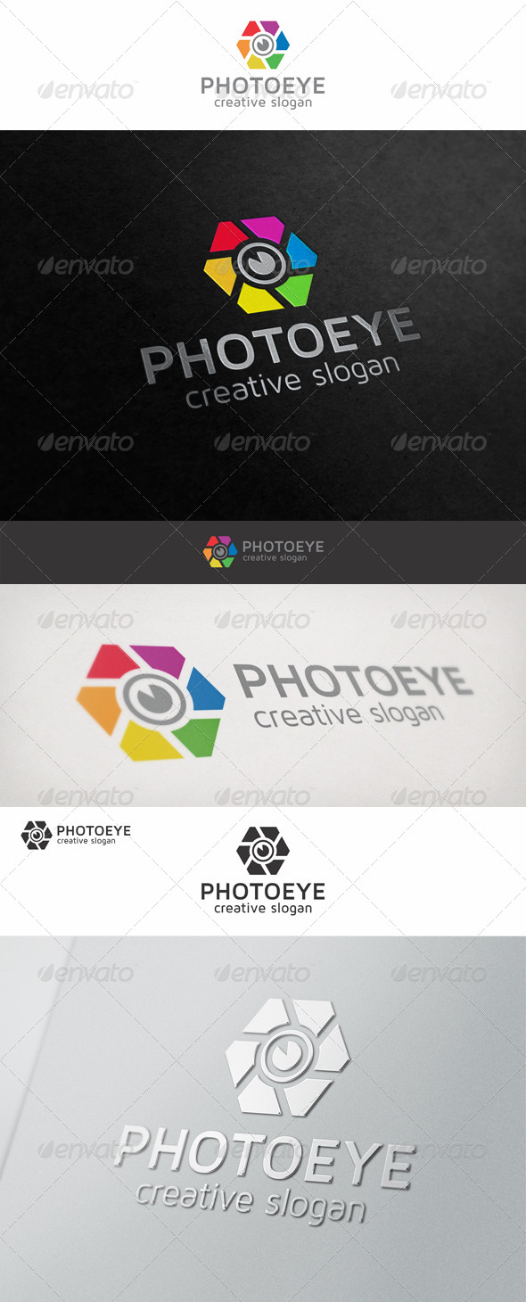 Photo Eye Digital Logo - Vector Abstract