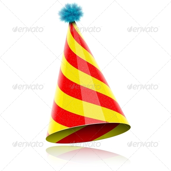 GraphicRiver Colorful Glossy Hat For Celebration 6779615