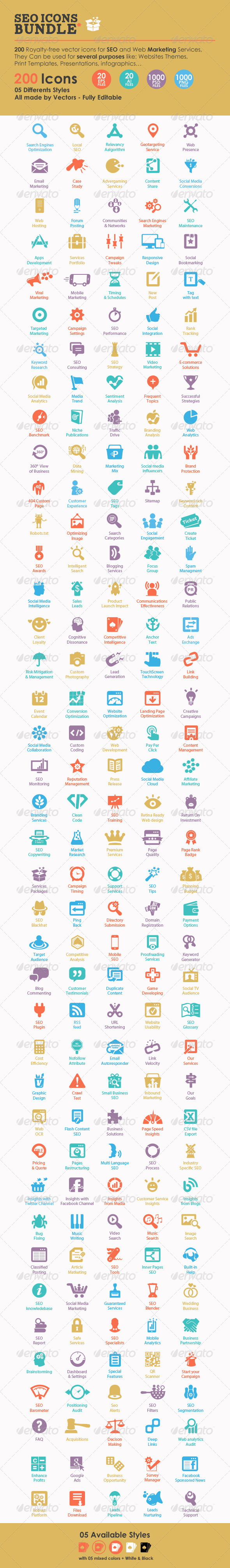 GraphicRiver SEO Icons Bundle 6779683