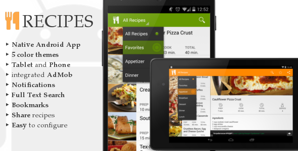 CodeCanyon Android Recipes App 6701594