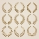 Set of Gold Laurel Wreaths - GraphicRiver Item for Sale