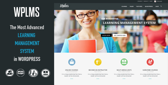 WPLMS Learning Management System - BuddyPress WordPress
