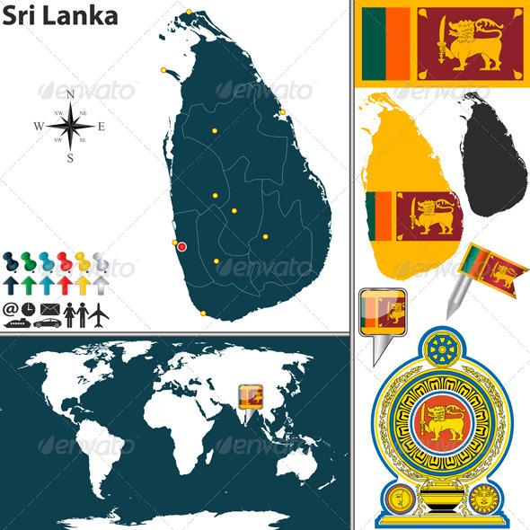 GraphicRiver Map of Sri Lanka 6780678