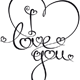 Calligraphic Text I Love You - GraphicRiver Item for Sale