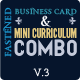 Fastened Blur Business Card & Mini CV Combo V3 - GraphicRiver Item for Sale