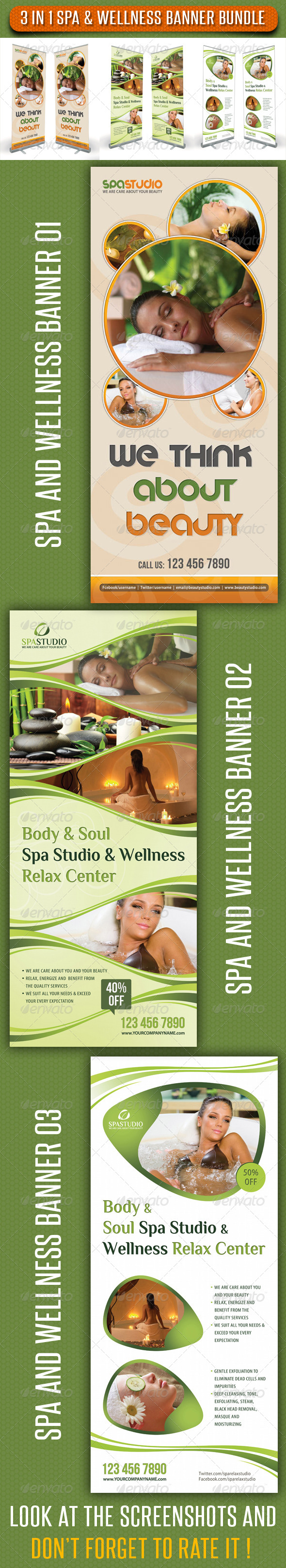 GraphicRiver 3 in 1 Spa Wellness Banner Bundle 01 6781889