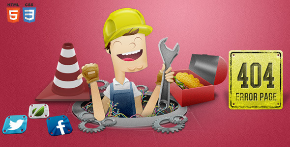 ThemeForest Handyman 404 Error Page 6782542