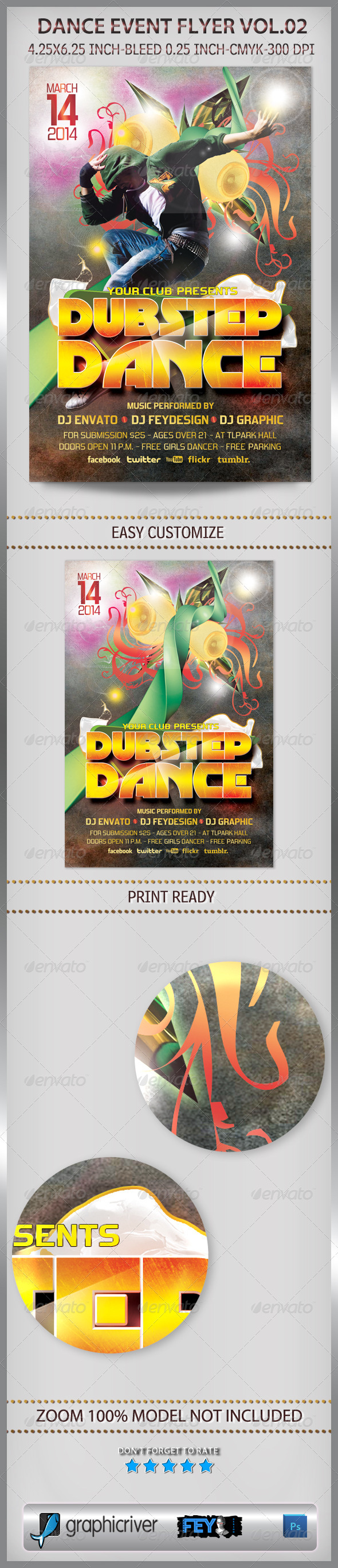 GraphicRiver Dance Event Flyer Vol.02 6703021