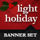 Light Holiday Banner Set - GraphicRiver Item for Sale